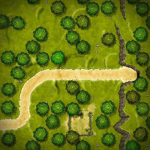 Wilderness modular tileset